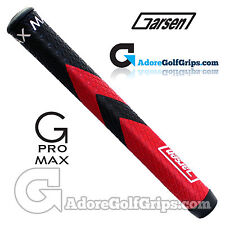 Garsen Golf G-Pro Max Jumbo Putter Grip - Black / Red + Grip Tape