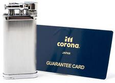Old Boy IM Corona Butane Pipe Lighter 90 Degree Flame Chrome Hairlines - 1205