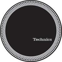 Technics 60666 Pair Slipmats Strobe 3 SILVER / BLACK Original / Brand New