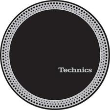 More details for technics 60666 pair slipmats strobe 3 silver / black original / brand new