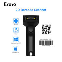 Eyoyo 2D & QR Wired & 2.4G Wireless Barcode Scanner 1800mah Battery for PC Y2K2