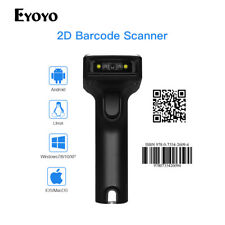 Eyoyo USB Wired & 2.4G Wireless 2D Barcode Scanner Bar Code Reader for PC Tablet