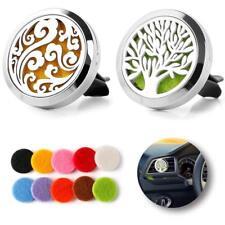Wave & Tree Car Vent Diffuser Locket Aromatherapy Car Air Freshener + 16Pcs Pads