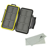Water-resistant Holder Storage Memory Card Case Cover Protection for 12 SD Cards