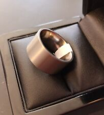 ***REDUCED*** Mens Wide Band Satin Finish Titanium Ring - Size S