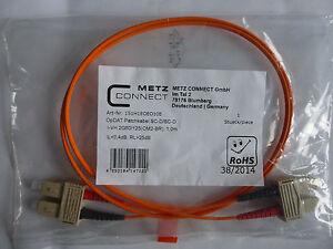 Metz Connect / BTR Patchkabel opDAT SC-D/SC-D 1m Orange Neu OVP