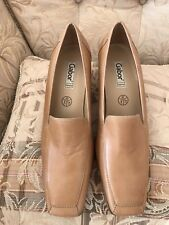 Women's Gabor Caramel/light Tan Leather court Shoes.Uk Size 8/EU 42. New RRP £65