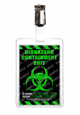 Zombie Biohazard Containment Unit ID Badge Cosplay Prop Comic Con Comic Con