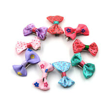 9PCS 3.5cm Random Mixed Colour Pattern Hair Clips Hairpin For Children Baby Girl