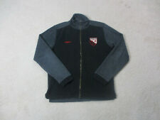 Umbro Sweater Adult Medium Blue Red Wilmslow Full Zip Soccer Cardigan Mens