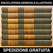 ENCICLOPEDIA GENERALE ILLUSTRATA RIZZOLI LAROUSSE COMPLETA 7 VOLUMI EDIZIONE ITA