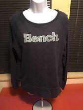 Women's BENCH Navy Size M Medium Sweatshirt Long Sleeve