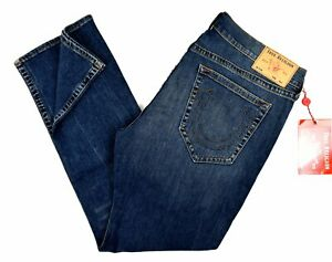 True Religion Men's Ricky Relaxed Straight Jeans - 101999 Size 42x32