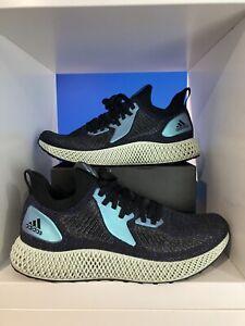 Adidas Alphaedge 4D Core Black Iridescent UK 10.5 US 11 - Fusio Running Run 1.0