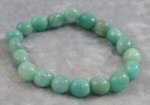 Amazonite Small Medium Tumbled Bead Bracelet
