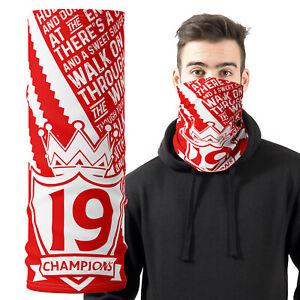 Liverpool Football Face Mask Champions Scarf Bandana Neck Tube Snood Dad Gift