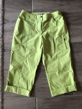 NWT Chico's Crop Cropped Capri Pants Lime Green Cargo style Size 1 NEW