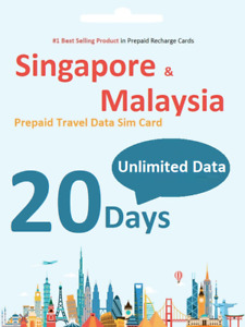 $1.9/day 20 days Singapore & Malaysia Travel data SIM card 4G Unlimited download