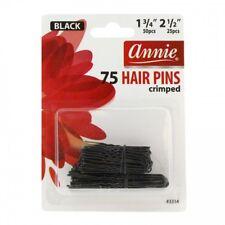 """ANNIE 75 PCS HAIR PINS BLACK BALL TIPPED CRIMPED 1 3/4"""" & 2 1/2"""" #3314"""