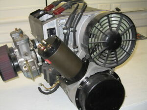 RIGHT ANGLE GPL ELECTRIC STARTER FOR ROTAX 582 !! IDEAL FOR LIMITED REAR SPACE !