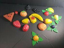 17 Nostalgic Vintage Fruit Refrigerator Magnets 1970s 1980s Grandmas Fridge