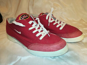 Vintage Nike red shoes, Canvas Team USA, size 11