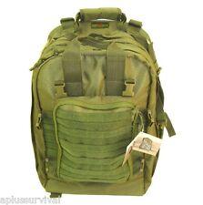 Olive Deluxe Mini Hospital Military Medic Backpack Survival Emergency Kit Bag