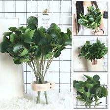 Artificial Plants Green Fake Leaves Foliage Bush Indoor Home Office Garden Decor