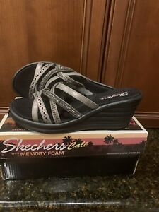 Skechers Rumbler Wave New Lassie 31777 PEW Pewter Size 8