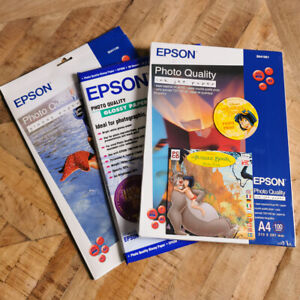 Epson Premium A4 Photo Paper Bundle - 40 Glossy Sheets + 100 Ink Jet Brand New