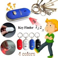 1Pcs LED Anti-Lost Key Finder Key Locator Keychain Whistle Sound Control Keyring