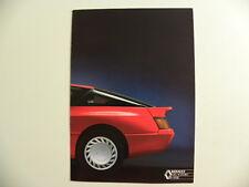 brochure RENAULT ALPINE V6 Turbo modèle 1990
