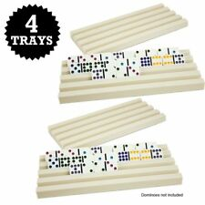 NEW Set of Four Plastic Domino Trays by Brybelly FREE SHIPPING