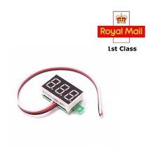 Mini Dc 3.0-30v Rojo Panel LED voltímetro Raspberry Pi Arduino Nuevo