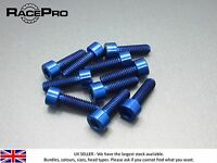 RacePro - 4x Titanium  Parallel Socket Bolt Allen - M5 x 18mm x 0.8mm - Blue