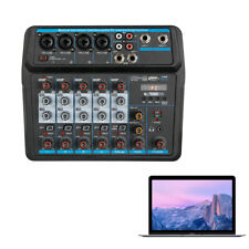 Professional 6-Channel Compact Audio Mixer with DSP DSP Sound Effect Low noise