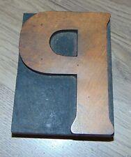 Wood Letter P Letterpress Printer Cut Wood Type 3 116 X 4 18