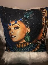 Linen Throw Pillow Case Queen Boho African Square Cushion Cover 18x18