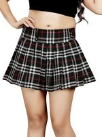 Women's Pleated Skirt Ladies Micro Mini Tennis High Plaid Skirts Size 6-24 094