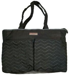 Carter's Just One You Black 14 1/2 X 12 X 6 1/2 Zip Top 4 Pocket Diaper Bag