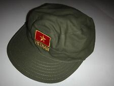 VC Green OD Soldier Utility Hat With Socialist Republic Of VIETNAM Logo