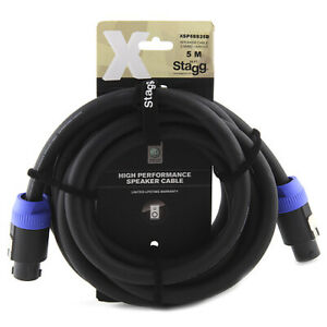 Stagg 5 m  /4 x 4.0 mm 2/  11GA X Series Professional Speaker Cable - Black