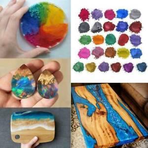 20 Colors Luminous Powder Resin Pigment Dye UV Resin Epoxy DIY Making Jewelry US