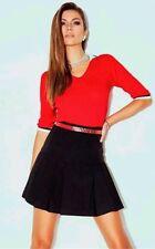 DENNY ROSE maglia blusa TG M maglioncino manica 3/4 rosso nuova art 51012
