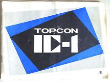 Topcon IC-1 Instruction Manual Booklet - English - Near PERFECT