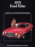 1975 Ford Torino Elite Original Car Sales Brochure Catalog