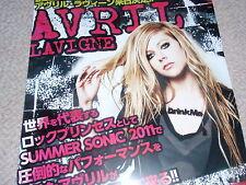 AVRIL LAVIGNE MINT Osaka Japan 2012 The Black Star TOUR concert flyer combine!