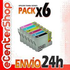 6 Cartuchos 0481 0482 0483 0484 0485 0486 NON-OEM Epson Stylus Photo R300 24H