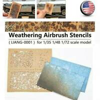 LIANG-0001 DIY Weathering Airbrush Stencils Fit 1/35 1/48 1/72 Scale Model USA