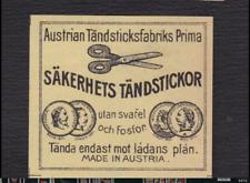 Ancienne étiquette  allumettes Autriche BN123065 Ciseaux